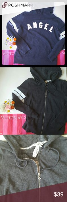 New! Victoria's secret zip up hoodie New with tags! Soft and cozy zip up Victoria's secret Hoodia size small, loose fit. Angel written on back, perfect condition!  Bundle and save! Victoria's Secret Tops Sweatshirts & Hoodies