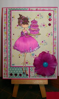 Upton's Nut Farm--Stamping Bella--Ava loves to celebrate--Pink