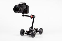 Camera Table Dolly - A compact, affordable dolly for pro-style video panning. ($90.00, http://photojojo.com/store)