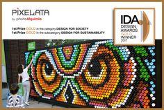 PIXELATA by photoAlquimia. Gold Award. IDA 2017. Design for Society/ Design for Sustainability