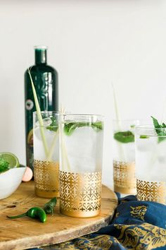 Lemongrass Gin Fizz cocktail recipe via Waiting on Martha