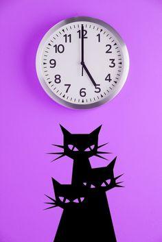 3 Mysterious Cats - Vinyl Wall Art Decal