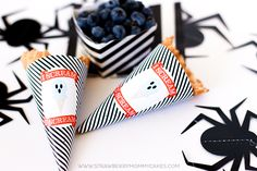 "Download these cute ""I Scream"" Halloween Ice Cream Cone Wrappers for a fun treat!"