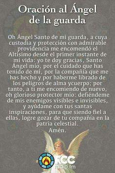 Oraciones Prayer Verses, God Prayer, Prayer Quotes, Bible Quotes, Catholic Prayers In Spanish, Archangel Prayers, Spiritual Prayers, Night Prayer, Miracle Prayer