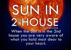 Sun in the 2nd House Astrology