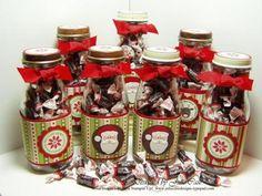 Santa Tootsie Roll Treats in Starbucks bottles Christmas Candy, Diy Christmas Gifts, Christmas Treats, Christmas Projects, All Things Christmas, Holiday Crafts, Holiday Fun, Christmas Holidays, Holiday Recipes