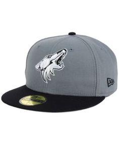 New Era Arizona Coyotes Gray Black 59FIFTY Cap - Gray 7 3/4