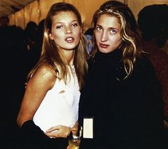 Icons: Kate Moss, Carolyn Bessette