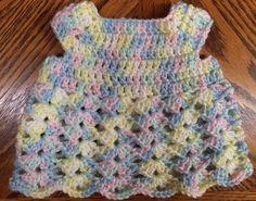 Handmade Crochet Girls' Dress - Dolls/Preemie - up to 5 lbs Baby Print Multi #Handmade #DressyEveryday