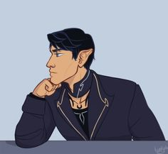 """the-night-court: """" taratjah: """"I colored the animation of Rhysand I posted a few days ago ^.^ Thankfully that took a lot less time than doing the line-art. A Court Of Wings And Ruin, A Court Of Mist And Fury, Fanart, Saga, Lynda Barry, Feyre And Rhysand, Sarah J Maas Books, Throne Of Glass Series, Crescent City"""