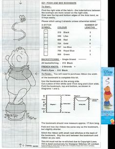 This is a pattern of Pooh and Bee bookmark of Designer Stitches (04-2000) that is no longer for sale.