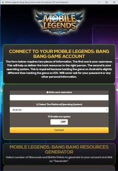 Mobile Legends Hack Generator — Mobile Legends Free Diamonds Mobile Legends Hack 2019 Updated Generator — How to Get Unlimited Diamonds No Survey No Verification Mobile Legends Bang Bang Hack — Get. New Mobile, Mobile Game, Episode Choose Your Story, App Hack, Iphone Mobile, Android Hacks, Hack Online, Mobile Legends, Bang Bang