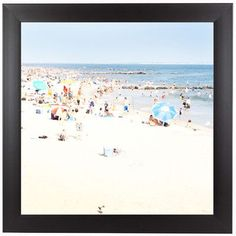 "East Urban Home Beach by Mina Teslaru Framed Photographic Print Size: 15"" H x 15"" W x 1"" D"