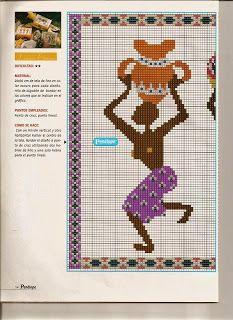 Punto De Cruz - Mas de 5,000 Gráficos: AFRICANOS BAILANDO African Design, Cross Stitch Designs, Projects To Try, Quilts, Patterns, Cross Stitch, Arrows, Home, African