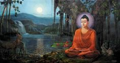 Sakyamuni Buddha achieved enlightenment under the Bodhi tree. Buddha Kunst, Buddha Art, Gautama Buddha, Buddha Life, Buddhist Philosophy, Bodhi Tree, Buddha Painting, Indian Art Paintings, Meditation