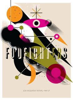 Foo Fighters concert poster by Invisible Creature