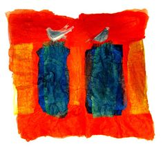 "Saatchi Online Artist Aviva Sawicki; Assemblage / Collage, ""Birds guarding Ten Commandments"" #art"