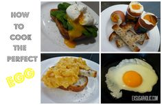 Cooking the perfect egg: Boiled, poached, scrambled or fried :) (from my site: www.exsugarholic.com)