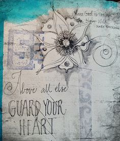 Guard your Heart {a mandala for processing} www.wildthymecreative.com