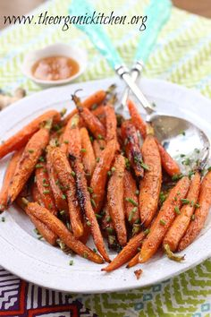 Roasted Baby Carrots with Honey and Ginger | The Organic Kitchen Blog and Tutorials