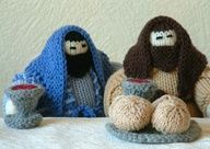 Knitted Last Supper. Everyone needs a knitted last supper