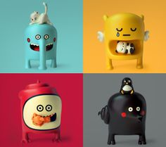 The Barbatonics by Elisa Sassi and Quailstudio a.a Amaury Lemal. Such cute designs, I really hope they get developed into vinyl toys. Toy Art, Vinyl Toys, Vinyl Art, Level Design, Mascot Design, Cute Monsters, 3d Prints, Little Doll, Cute Toys
