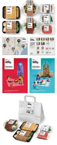 Delishop Take Away packaging by Enric Aguilera Associates