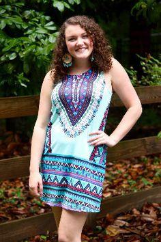 Dakota Tribal Print Dress – Jettie Pearl's Boutique