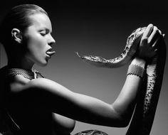 Rankin's snake photo. Model Eva Herzigova: