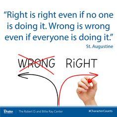 Right and wrong #CharacterCounts