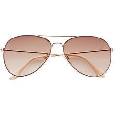 Sunglasses $7.99 ($7.99) ❤ liked on Polyvore featuring accessories, eyewear, sunglasses, metal frame glasses, uv protection sunglasses, aviator style sunglasses, aviator sunglasses and uv protection glasses