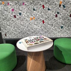 #Neocon finds: Charley Harper Whiteboard puts some fun in a healthcare waiting room. #Neoconography #Steelcase