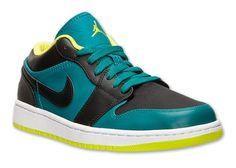 Air Jordan 1 Low \\u2013 Lush Teal \\u2013 Venom Green \\u2013 Black #