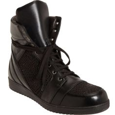 Love the Gareth Pugh Lasercut Preco High Top on Wantering | Sneaks and Kicks | mens high top sneakers #menssneakers #menshightopsneakers #mensshoes #menswear #mensstyle #mensfashion #wantering http://www.wantering.com/mens-clothing-item/lasercut-preco-high-top/agJIt/