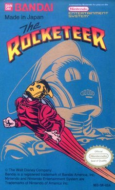 #Rocketeer, The - Label or Box Art #nintendo games #gamer #snes #original #classic #pin #synergeticideas #gameon #play #award
