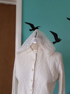 Going to the Chapel - 1950's Hooded Lace Wedding Cardigan by Kinfauns on Etsy