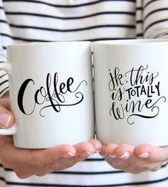 Just Kidding Wine Coffee Mug
