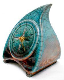 Small Flame Clock by Glazed & Amazed