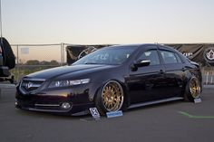 VIP Modular wheels on a bagged and stanced Acura TL
