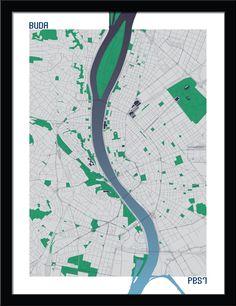 Budapest by Cartografika , via Behance