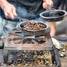 roasting coffee beans - Chants and Charms