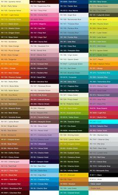 Montana 94 Spray Paint Colors Chart Home Design Color Names Chart, Paint Color Chart, Color Mixing Chart, Spray Paint Colors, Color Palette Challenge, Palette Art, Color Meanings, Color Psychology, Colour Pallete