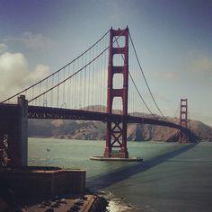 Golden Gate Bridge :opened on May 27, 1937. It had the longest suspension bridge main span in the world. #california  (στην τοποθεσία Golden Gate Bridge)