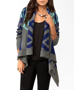 Colorblocked Geo Cardigan | FOREVER21 - 2019766964