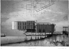 Architecture Sketch Blog | paavo: 97. Carrington Wharf - drawings by Warren...