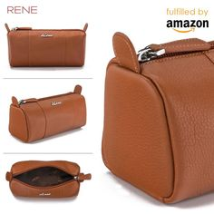 This trendy pouch from RENE is a must-have for fashion-conscious men & women. A perfect pick to carry your essential stuff in style, this pouch will surely complement your casual look for the day. Made from 100% Genuine Leather, this pouch is durable and lightweight too. The zip closure ensures safety of your belongings. A genuine leather product of great finish, which is the perfect blend of high quality workmanship & application of latest techniques & equipments. #reneindia #leatherpouch