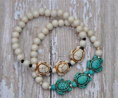 Sea Turtle Bracelets / Sea Turtle Bracelet / Beaded by BeadRustic, $22.00