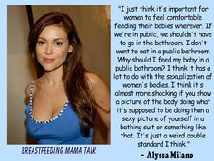 Alyssa Milano Standing up for Breastfeeding.