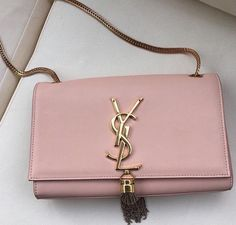 YSL pinkish nude purse with gold ♡