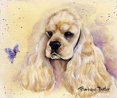 Print of Painting Cocker Spaniel Buff Headstudy Signed by Barbara Butler | eBay